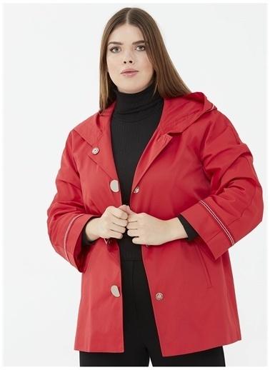 Selen Trençkot Kırmızı